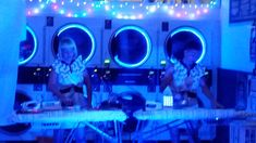 The most unusual concert venue ever - The Ironing Maidens held a concert at our Gold Coast laundromat in January Our laundromat has never looked this good! Acoustics and lighting were great and it was a wonderful party atmosphere! Coin Change Machine, January 2018, Card Reader, Gold Coast, Australia, Park, Lighting, Concert, Light Fixtures