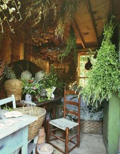 I've dreamt of an herb drying room such as this. One day it will be reality.
