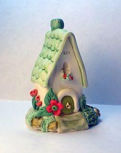 "Miniature OOAK Cottage Fairy House ""Ruby Falls"" by C Adams. $10.00, via Etsy."