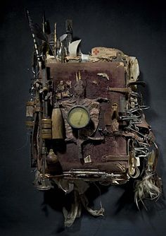 Book by Ron Pippin Assemblage By Adolfo Vasquez Rocca