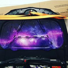 Starry sky Under hood Galaxy Car, Honda Civic Hatchback, Ultimate Garage, Girly Car, Car Goals, Tuner Cars, Subaru Wrx, Modified Cars, Car Stuff