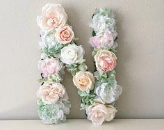 Flor personalizada carta carta Floral arte de pared de cuarto