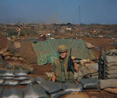 2nd Lieutenant John Dillon, Platoon Commander of 2nd Platoon, Bravo Company, 1/26. The weapon he is holding is a sub-machine gun. Photo taken right before the Siege of Khe Sanh, January 1968. Given the popularity of the television show GUNSMOKE, we called the lieutenant, Mr. Dillon. Photo courtesy of Michael O'Hara. BRAVO! COMMON MEN, UNCOMMON VALOR @ https://bravotheproject.com/. #BRAVO! #USMC #KheSanh #VietnamWar #JohnDillon #RedClay