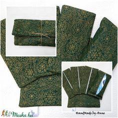 Papírzsebkendő tartó csomag - Zöld arannyal zsákban (annetextil) - Meska.hu Vintage, Vintage Comics