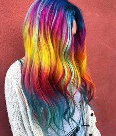 I loved hanging out with my new friend @ and dyeing this Ikram Be. I loved hanging Bright Hair Colors, Hair Dye Colors, Rainbow Hair Colors, Beautiful Hair Color, Cool Hair Color, Multicolored Hair, Colorful Hair, Pinterest Hair, Coloured Hair