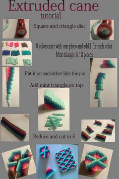 Quilt polymer clay cane tutorial