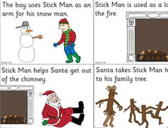Stick Man Story Sequencing Cards (plain) - http://activities.tpet.co.uk/#/viewResource/id456
