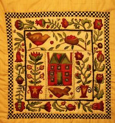 I bought this panel from Oughterard, County Galway, some time last year and it has kept me busy through the cold winter months. Quilted Wall Hangings, Winter Months, Cold, Quilts, Blanket, Rugs, Home Decor, Farmhouse Rugs, Decoration Home