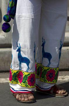 Huichol sacred deer embroidery