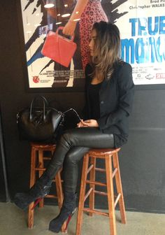 Lovely leather pants and boots