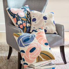 Fleur Hook Blueberry Pillow
