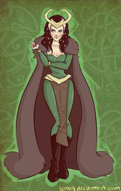 Lady Loki by lortay on DeviantArt