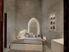 Derelict Buildings, Hotel Architecture, One Bedroom Apartment, Villa Design, Lounge Areas, Interior Design, Underground Caves, Santorini Island, Atrium