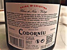 El Alma del Vino.: Codorníu Cava Brut Reserva Reina María Cristina Blanc de Noirs Vintage 2013.
