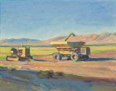 """""""Rice Farm, Colusa County"""" Boyd Gavin Agriculture, Farming, Rice, Landscape, Painting, Art, Art Background, Scenery, Painting Art"""