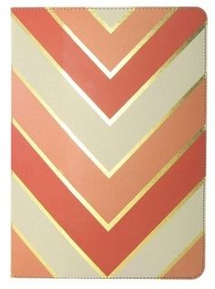 Coral + Gold :: Chevron Folio for the New iPad and iPad 2 $29.99 - i don't have an iPad...but this is so pretty