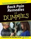 Back Pain Remedies For Dummies:Book Information - For Dummies