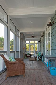 Screen it in and it will be the perfect porch!  Featured in House of Turquoise: Geoff Chick & Associates
