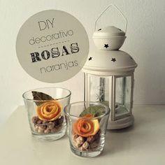 Ocupando las horas: Diy decoración: Rosas naranjas