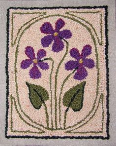 I didn't make this, but I love rug hooking, too.