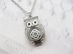 Silver Owl Necklace - Silver Celtic Knot - Silver Celtic Owl - ORIGINAL by BirdzNbeez - Wedding Birthday Bridesmaids Gift on Etsy, $28.00