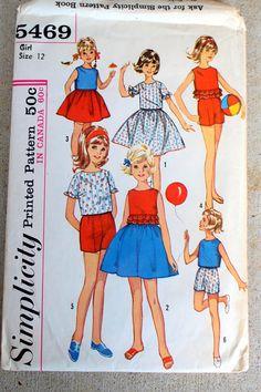 Vintage Simplicity #5469 sewing pattern in Girl's #supplies @EtsyMktgTool #vintagepattern #vintagesimplicity #simplicity5469