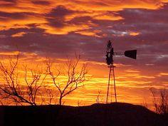 Sunsets; Windmills