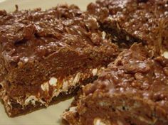 Chocolate Crunch Brownies from Food.com: I found this recipe in Country Women magazine. I had to make cookies for a church picnic, and everyone raved over these. i did sift the flour with the cocoa when i made these.