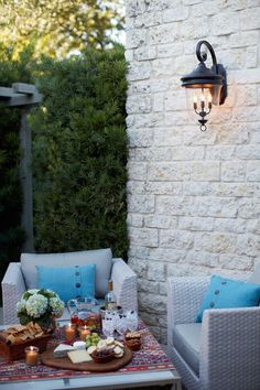Delicious eats, friendly company and soft lighting are the perfect elements for a delightful summer evening.