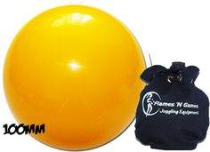 Rubber Practice Contact Juggling Balls 100mm (Yellow)