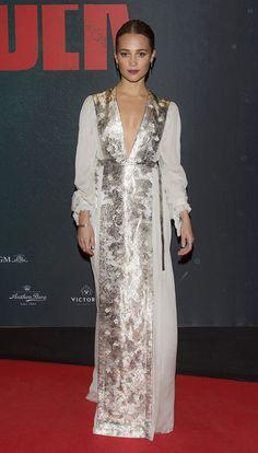 Best Dressed Celebrities: Alicia Vikander, Kim Kardashian West, Lupita Nyong'o, and More