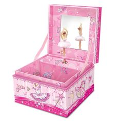 "Musical Jewelry Box - Pecoware / Square Jewelry Box, Little Dancer Plays ""Fur Elise"" . The square musical jewelry box has been a classic gift for girls for generations. No girl should miss out on this classic gift! Musical Jewelry Box, Gifts For Girls, Toy Chest, Storage Chest, Dancer, Decorative Boxes, Plays, Classic, Fur"
