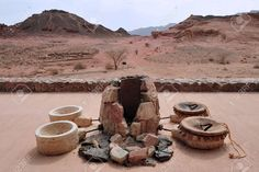 *ISRAEL ~ Exhibit of ancient Egypt copper mining accessories in Timna Park