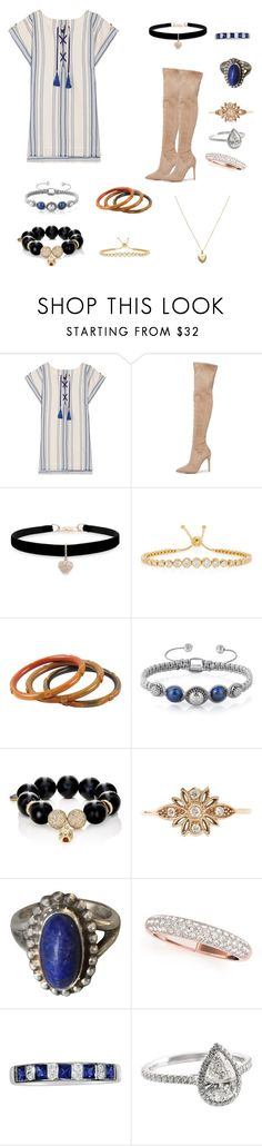 """Travel the World"" by lemonsandroses on Polyvore featuring Lemlem, Kendall + Kylie, Betsey Johnson, Jemma Wynne, Carole Shashona, Georg Jensen, EWA and Estella Bartlett"