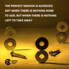 The perfect groove is achieved, not when there is nothing more to add, but when there is nothing left to take away   #music #micro #groove #perfect #romania #techno #electronic #romaniasoundsgood