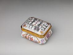 Snuffbox.  Factory: Vienna Factory director: Du Paquier period (1718–1744) Date: ca.1735 Culture: Austrian, Vienna