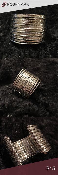 NWOT beautiful sturdy silver layered bracelet NWOT Beautiful silver sturdy layered bracelets Jewelry Bracelets