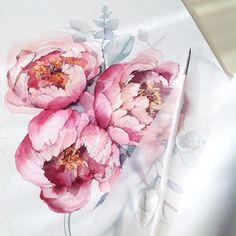 """6,106 Me gusta, 49 comentarios - Misha (@katerina_mihailina_07) en Instagram: """"Цветы цветы, обожаю цветы и обожаю их рисовать! Спасибо вам за такие…"""""""
