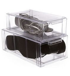 Crystal Clear Stackable Storage Drawer - Large in Storage Drawers