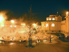 Szechenyi Baths in Winter.