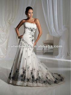 Hs121092 2013 nuevo encaje negro un - línea de organza vestido de novia-XL Falda-Identificación del producto:644518753-spanish.alibaba.com