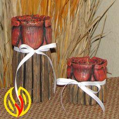 YLEANA CANDLES: Linea Floral        Velas talladas a mano con diseño de rosas