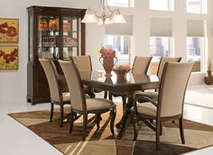 Share  			  Keira Transitional Dining Collection  Is nice for our dinning room... @Raymour and Flanigan ;)