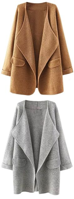 Hot Sale, $29.99! Clearly, you know that this cardi will keep you warm. Simple solid color can still reveal the your fashion vibe. Classic chic style comes for you.
