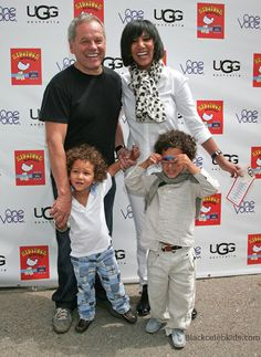 Celebrity Chef Wolfgang Puck and his family, his sons Oliver Wolfgang (born July 17, 2005) and Alexander Wolfgang (born December 20, 2006), and his Ethiopian-born  wife, handbag designer Gelila Assefa Puck