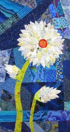 Flower quilt by Mary Keasler | fiberliscious: Playing catch up