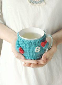 Mug Sweater with Initial Monogram by mugsweater on Etsy