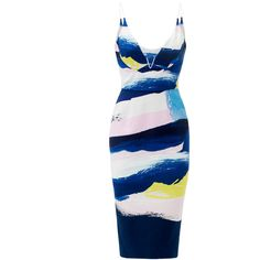Rental Nicholas Color Splash Dress ($100) ❤ liked on Polyvore featuring dresses, no sleeve dress, sleeveless dress, v-neck dresses, white day dress and faux-leather dress