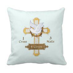 Easter Cross Dove 4 Given Pillows