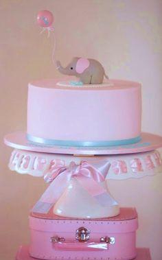 Pink elephant cake